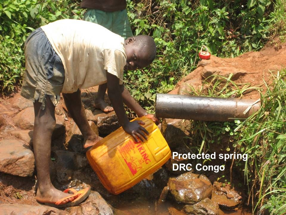 Protected spring DRC Congo