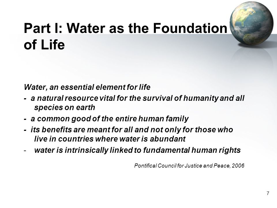 Part I: Water as the Foundation of Life