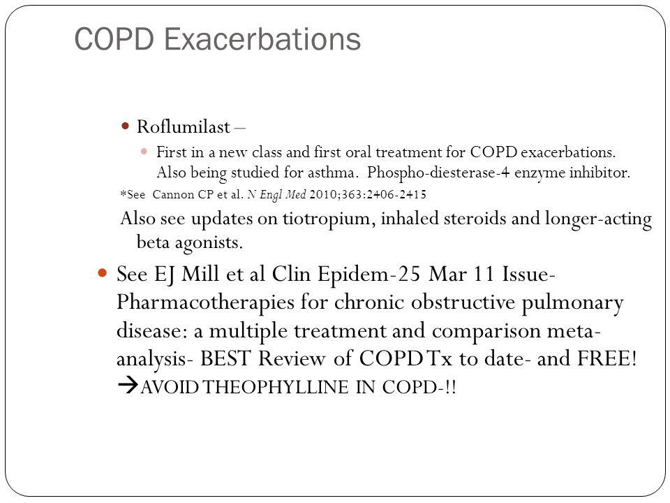 COPD Exacerbations Roflumilast –