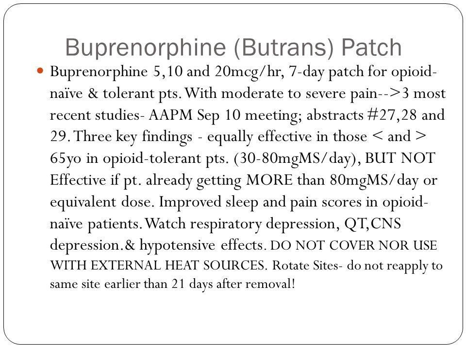 Buprenorphine (Butrans) Patch