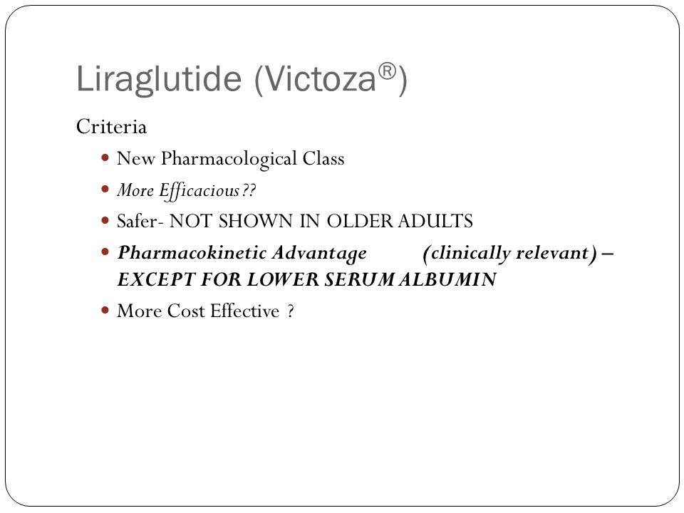 Liraglutide (Victoza®)