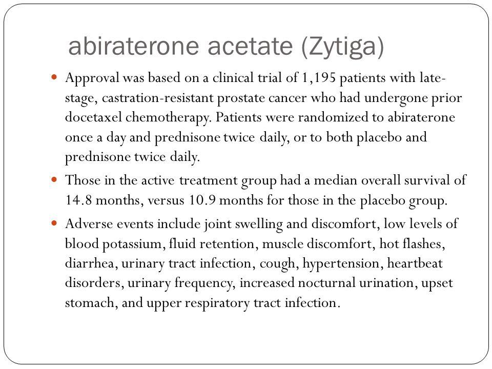 abiraterone acetate (Zytiga)