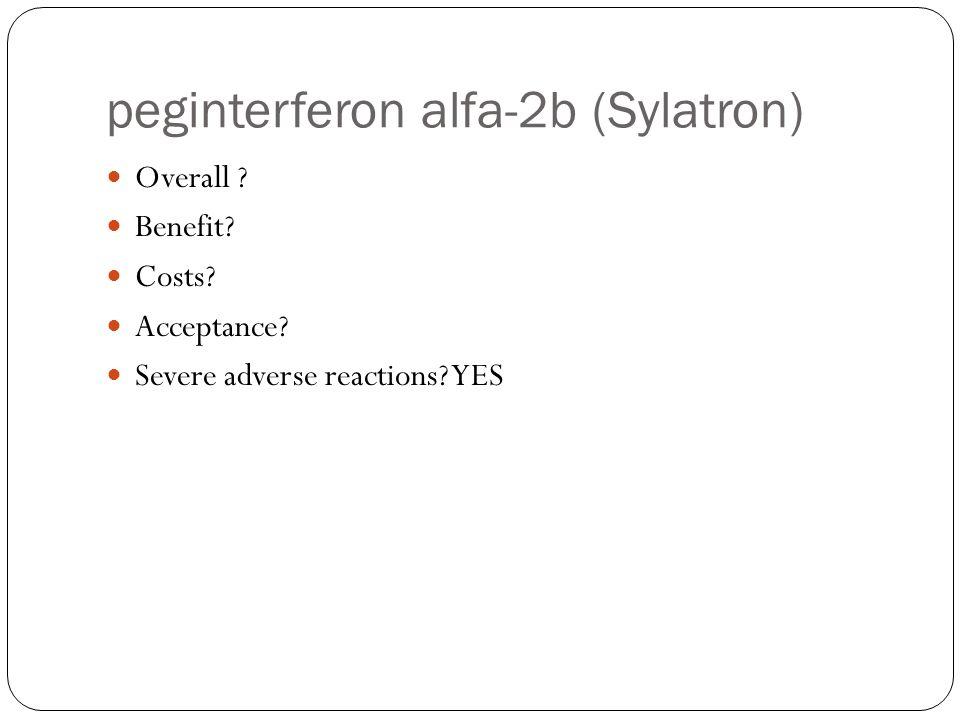 peginterferon alfa-2b (Sylatron)