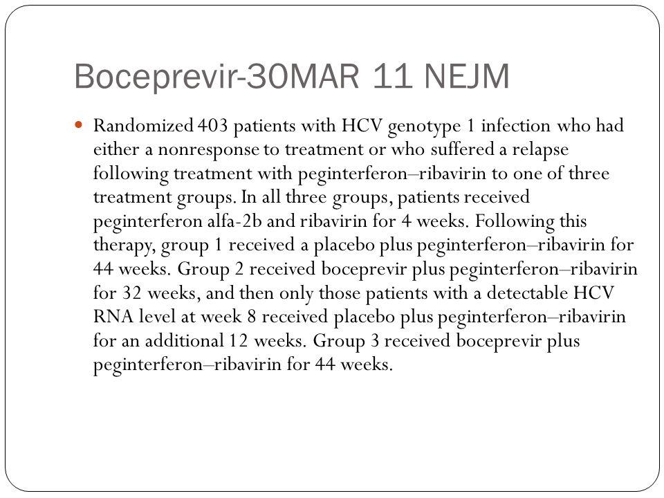 Boceprevir-30MAR 11 NEJM