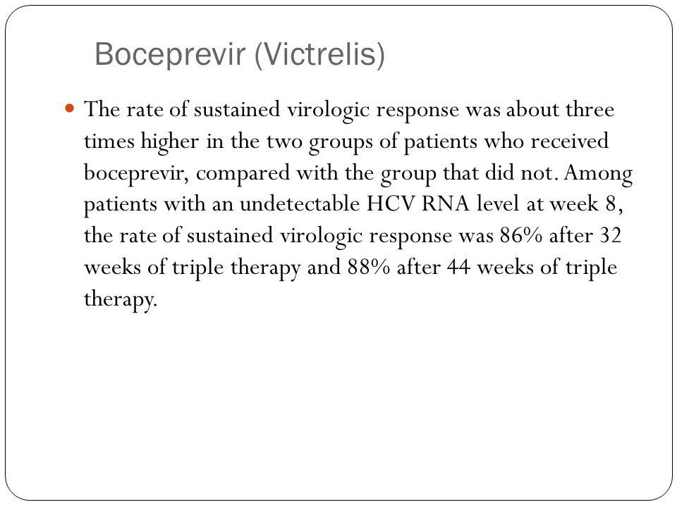 Boceprevir (Victrelis)