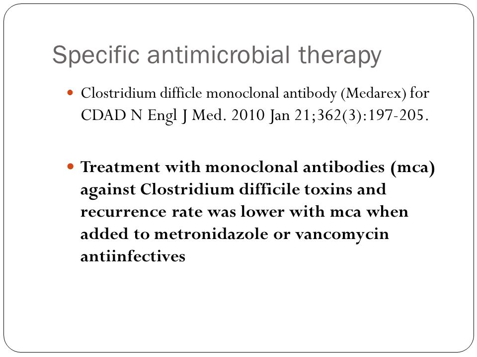 Specific antimicrobial therapy