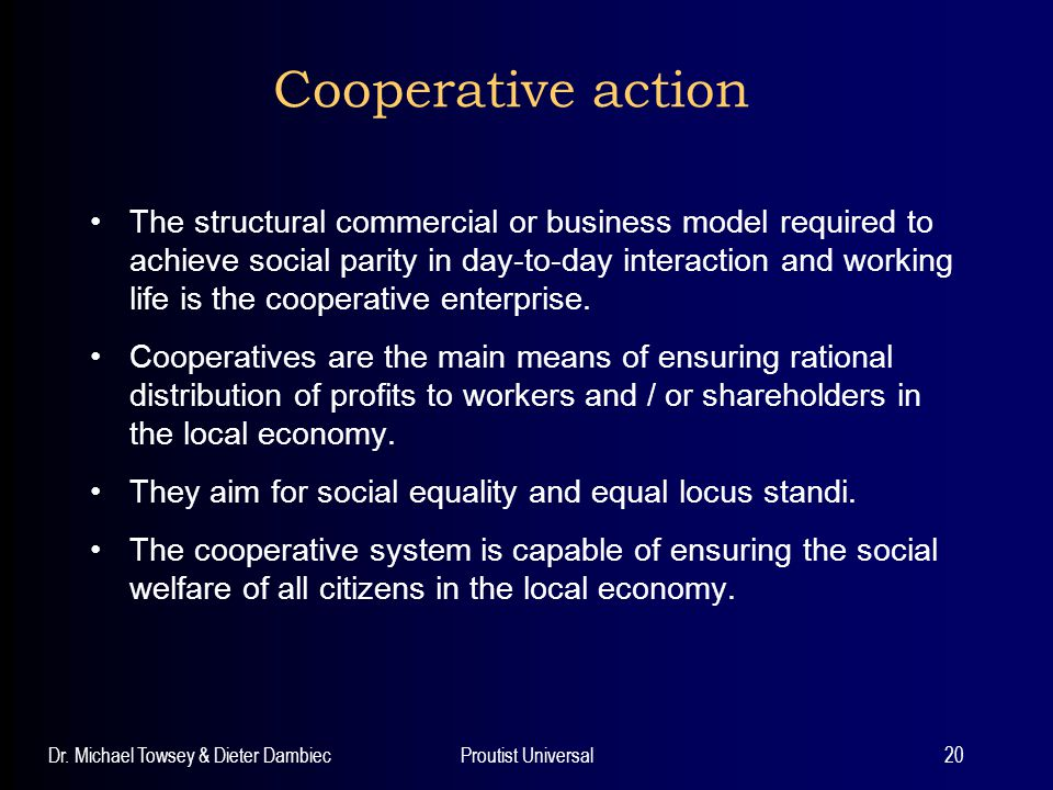 Cooperative action