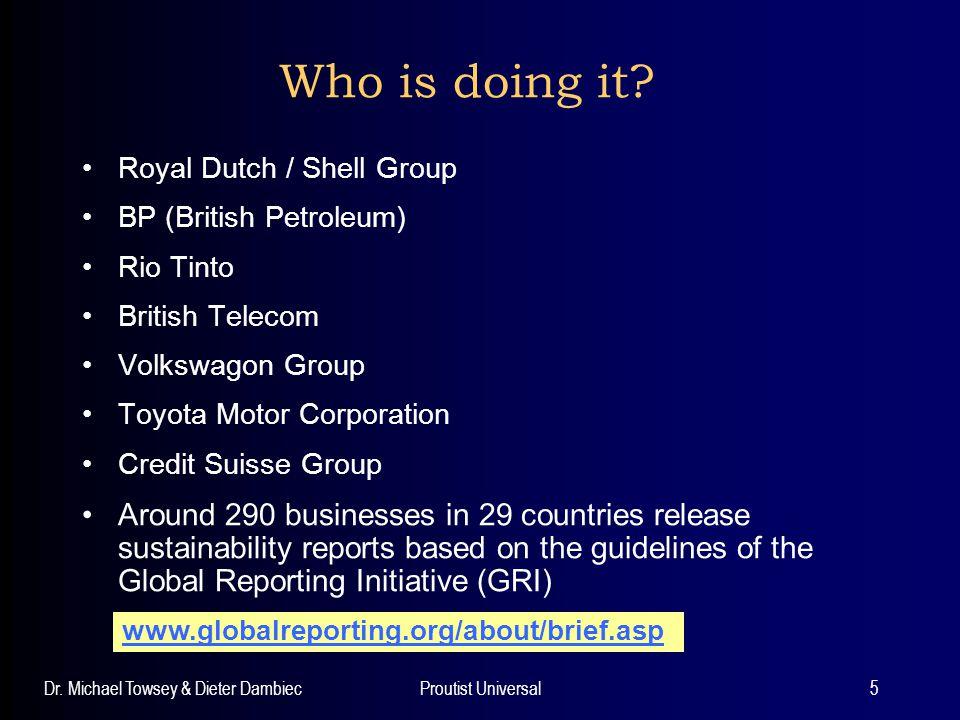Who is doing it Royal Dutch / Shell Group. BP (British Petroleum) Rio Tinto. British Telecom. Volkswagon Group.