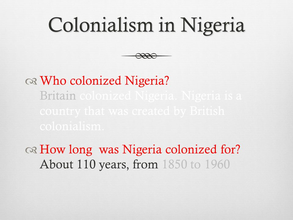 Colonialism in Nigeria