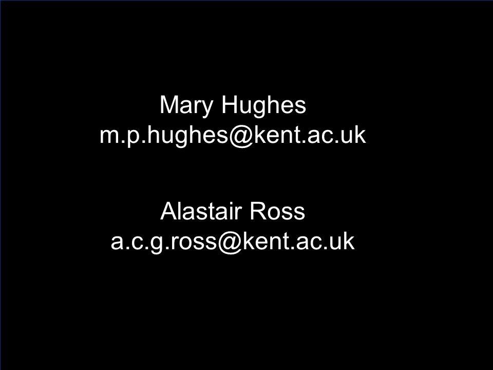 Mary Hughes m.p.hughes@kent.ac.uk