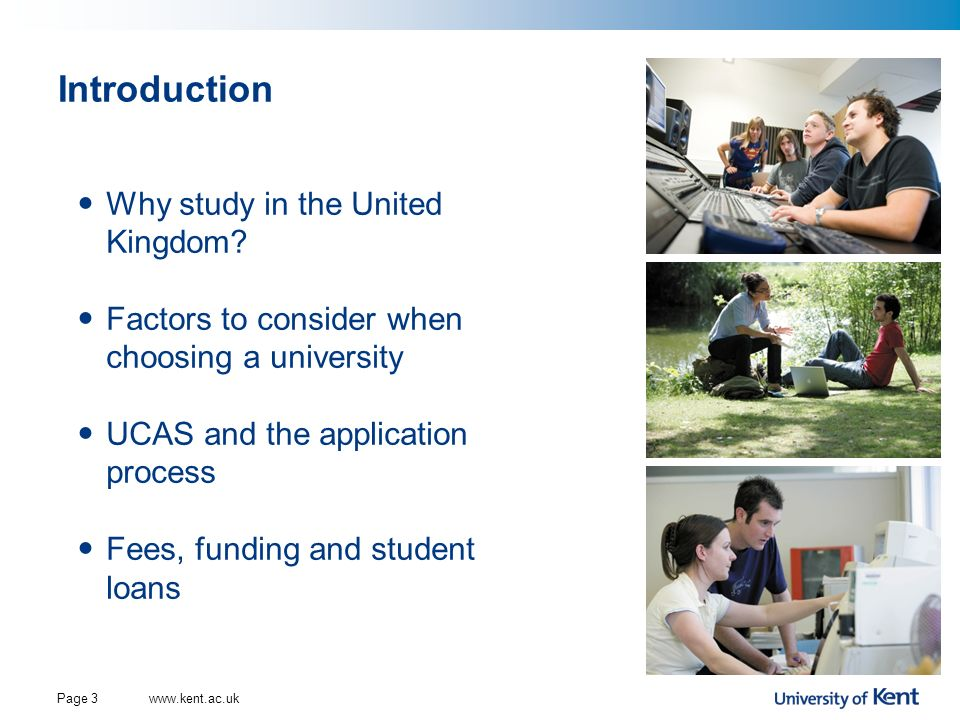 Introduction Why study in the United Kingdom