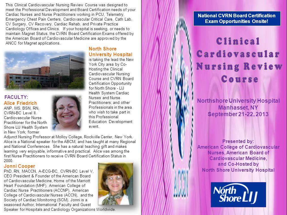 Clinical Cardiovascular Nursing Review Course