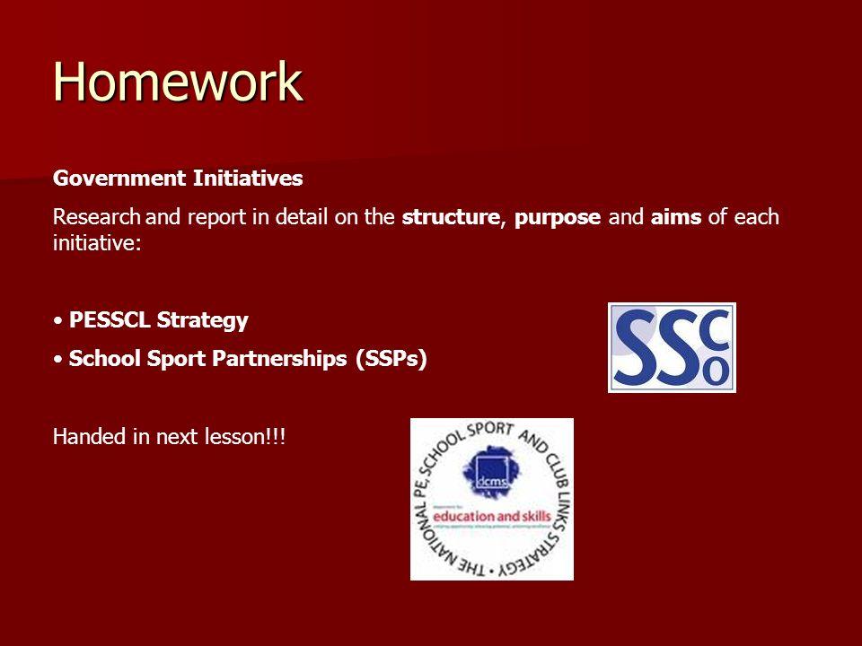 Homework Government Initiatives