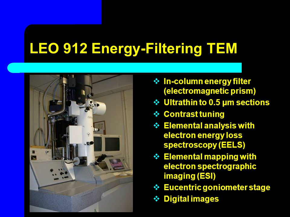 LEO 912 Energy-Filtering TEM