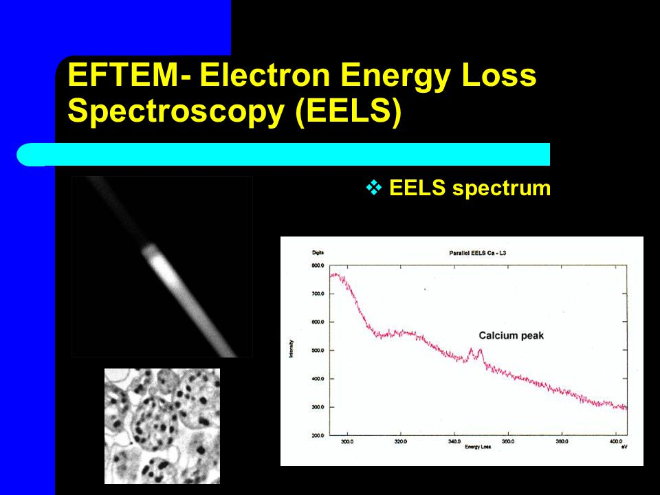 EFTEM- Electron Energy Loss Spectroscopy (EELS)