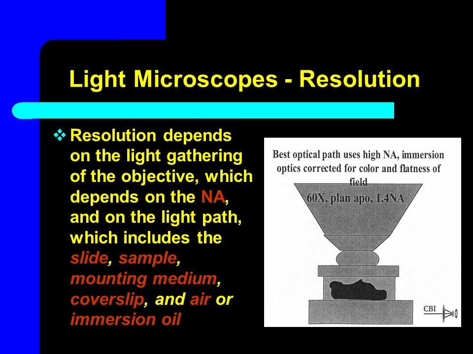 Light Microscopes - Resolution