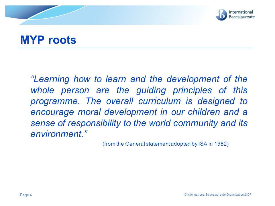 MYP roots