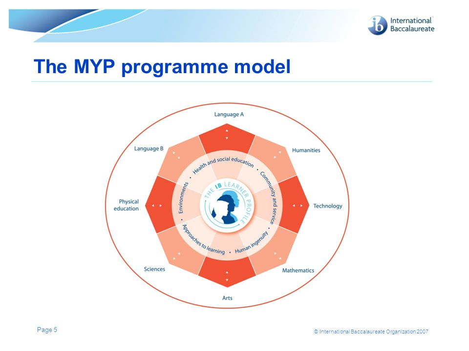 The MYP programme model