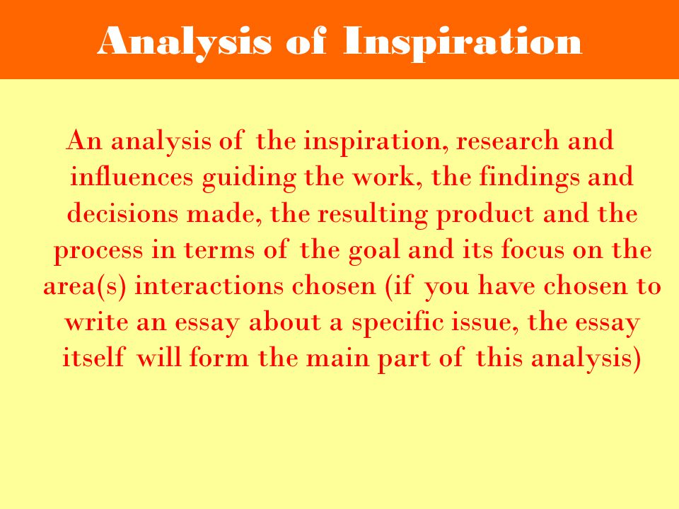 Analysis of Inspiration