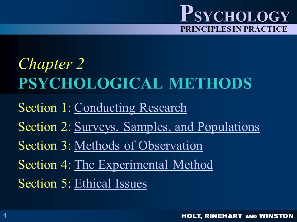 ch 2 psychologys scientific method End show slide of 25 © copyright pearson prentice hall thinking like a scientist  the scientific method an experiment is a procedure that is used to test a.