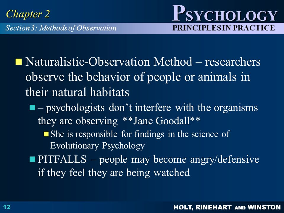 Chapter 2 Section 3: Methods of Observation.