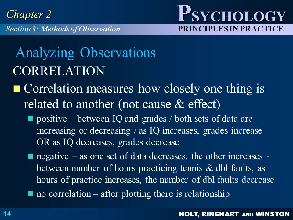 Analyzing Observations