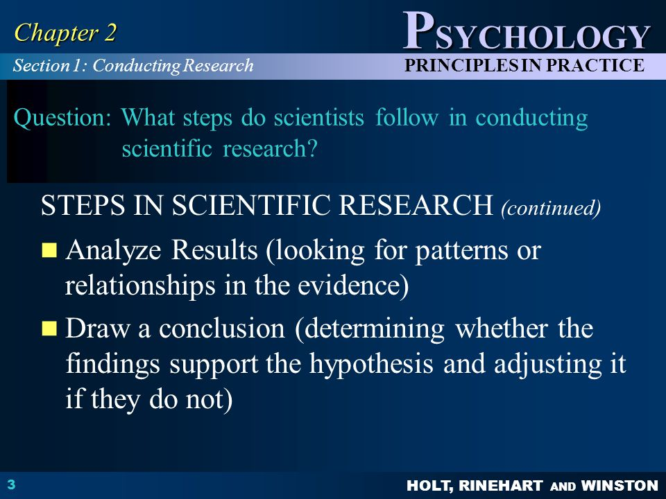 STEPS IN SCIENTIFIC RESEARCH (continued)