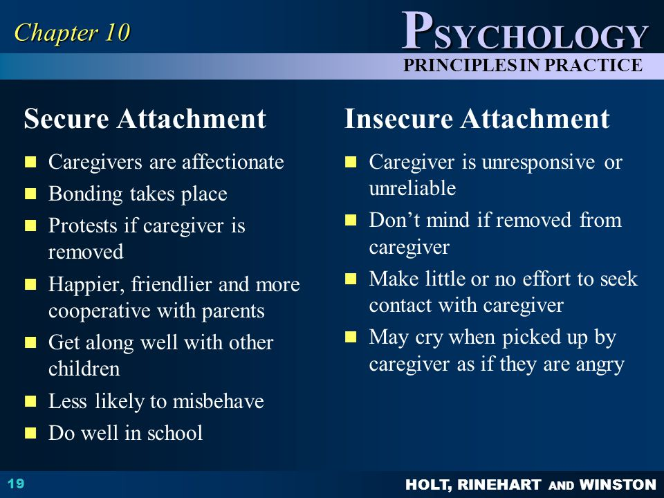 Secure Attachment Insecure Attachment Chapter 10