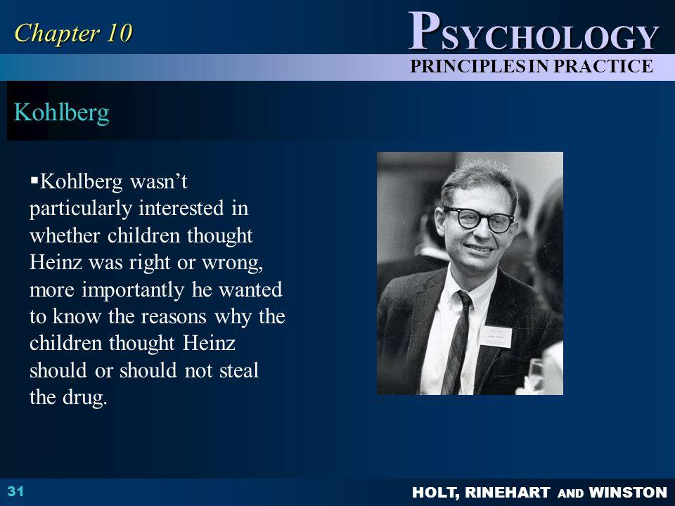 Chapter 10 Kohlberg.