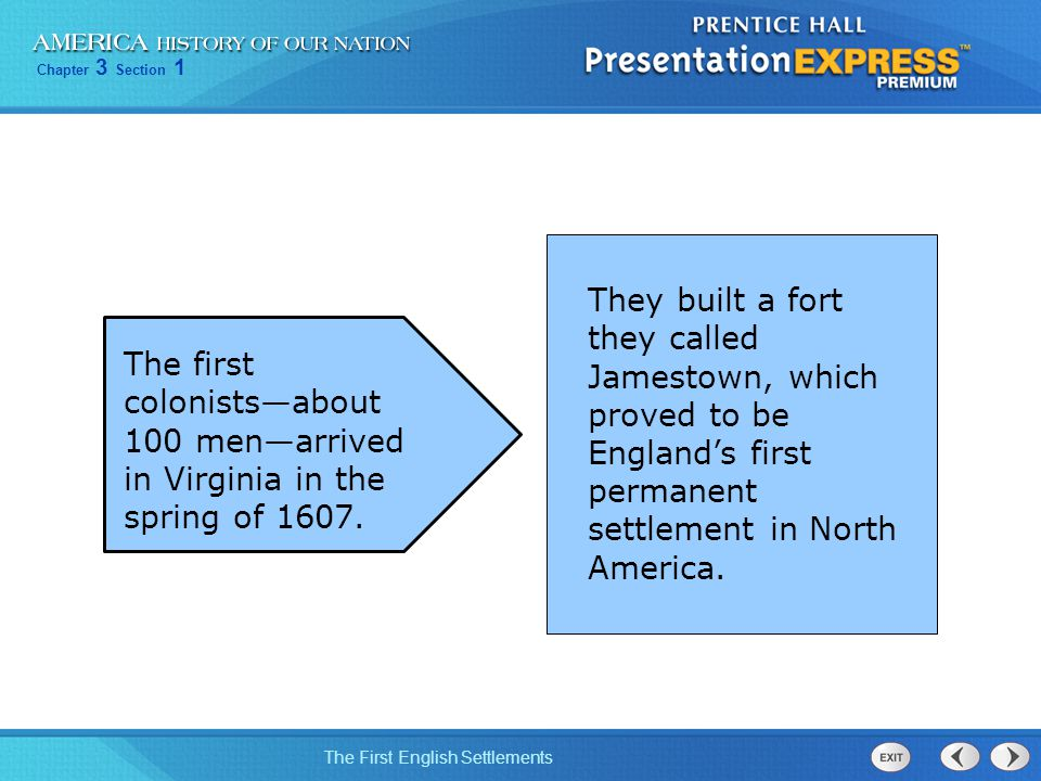 They built a fort they called Jamestown, which proved to be England's first permanent settlement in North America.