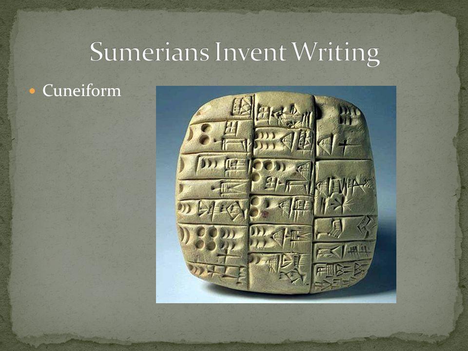 Sumerians Invent Writing