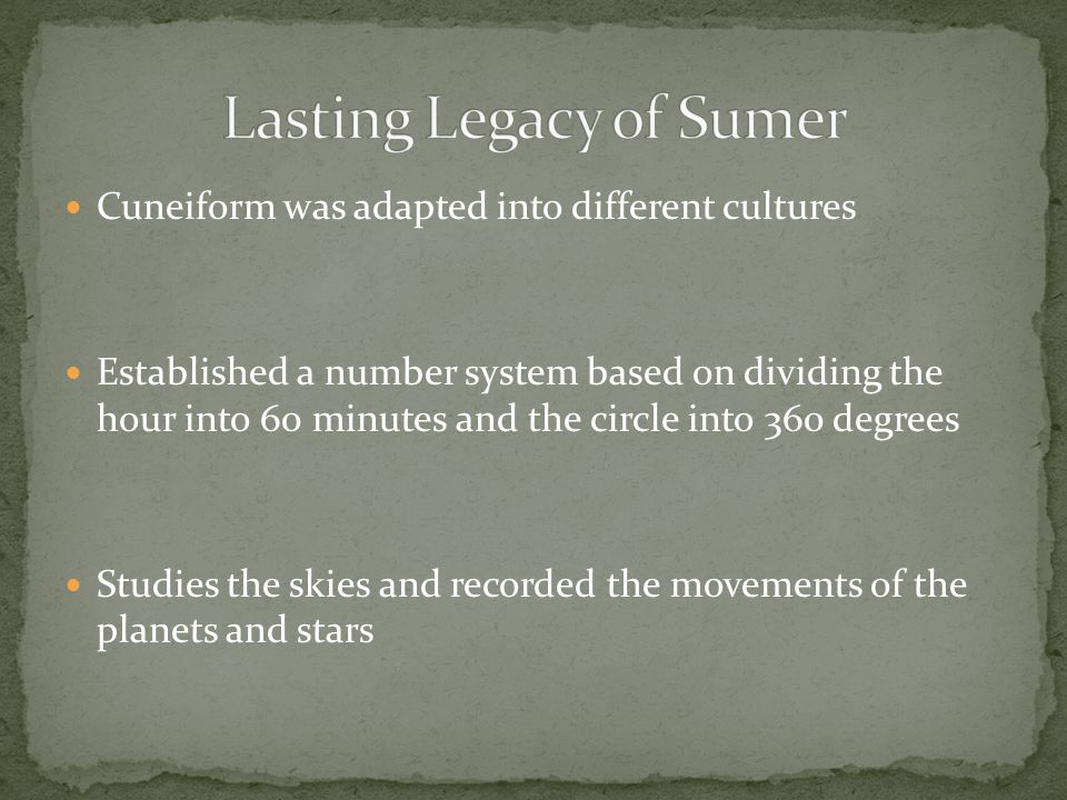 Lasting Legacy of Sumer