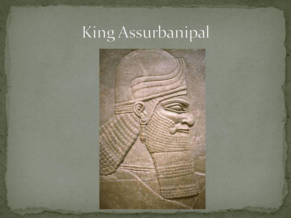 King Assurbanipal