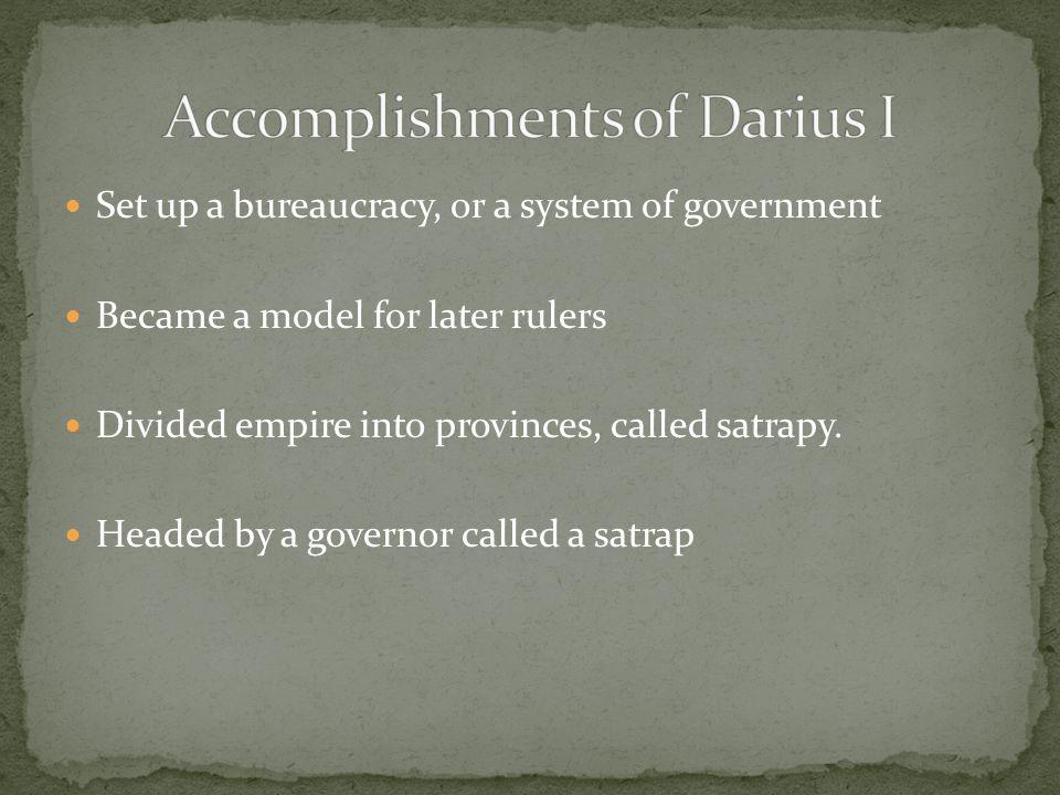 Accomplishments of Darius I