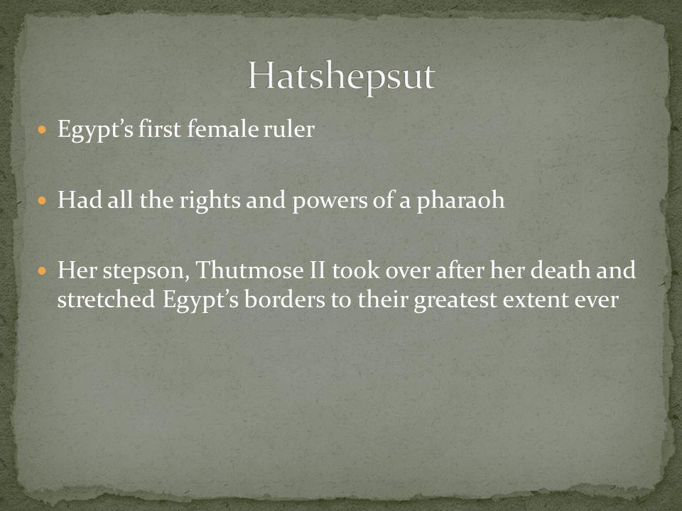 Hatshepsut Egypt's first female ruler