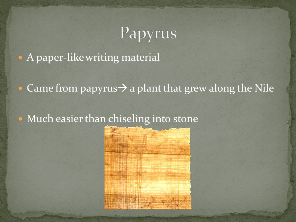 Papyrus A paper-like writing material