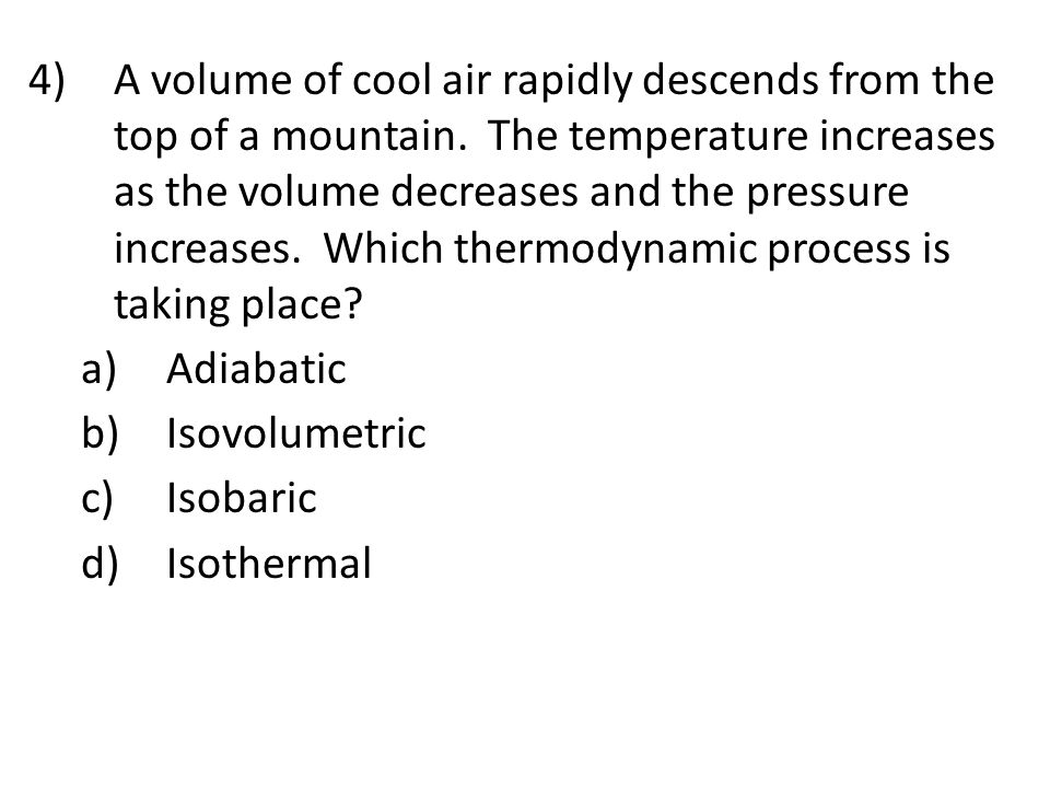 A volume of cool air rapidly descends from the top of a mountain