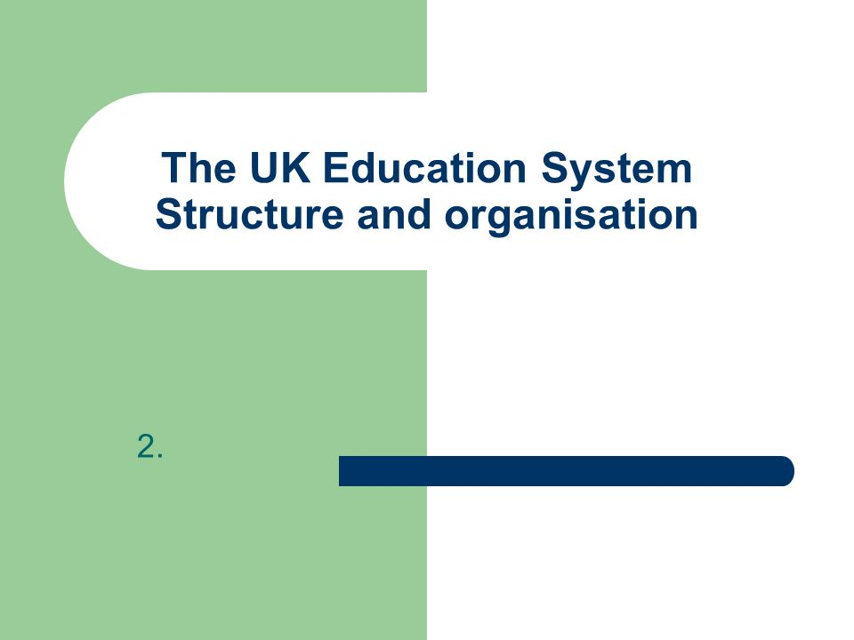 The UK Education System Structure and organisation