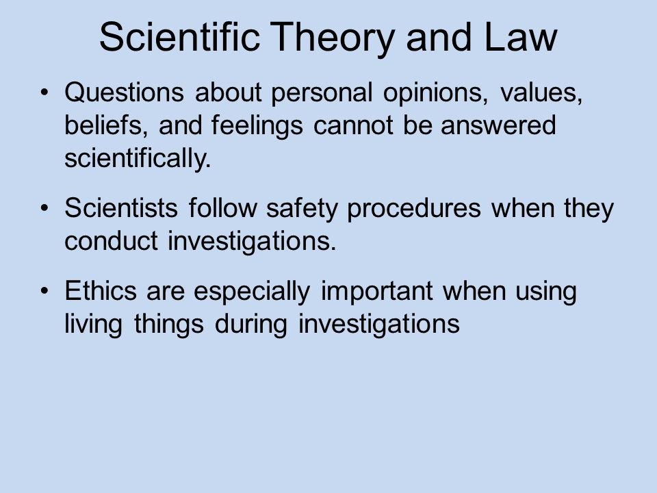 Scientific Theory and Law