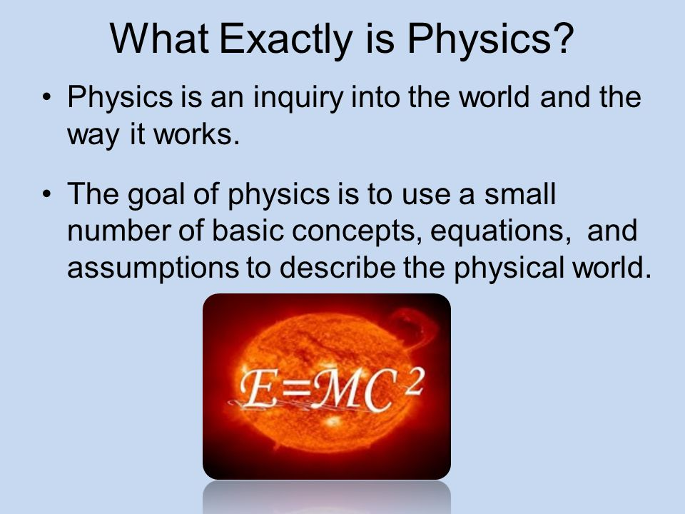 What Exactly is Physics