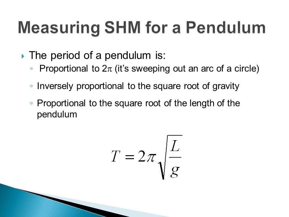 Measuring SHM for a Pendulum