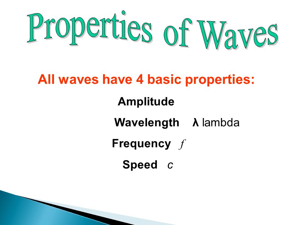 All waves have 4 basic properties: