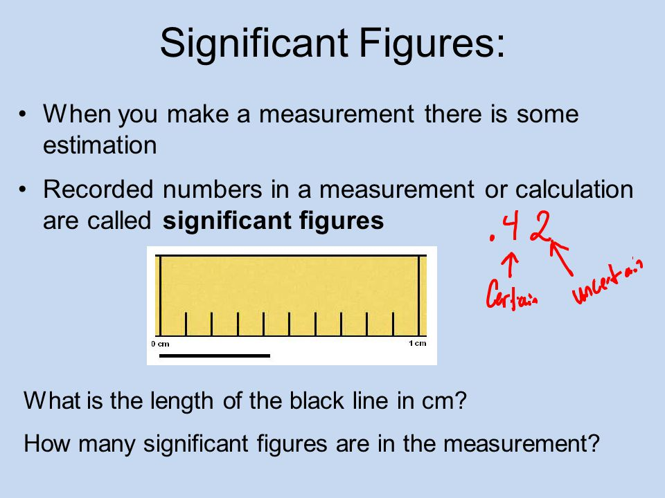Significant Figures: When you make a measurement there is some estimation.