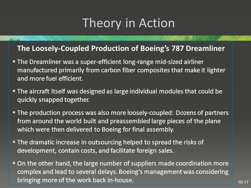 The Loosely-Coupled Production of Boeing's 787 Dreamliner
