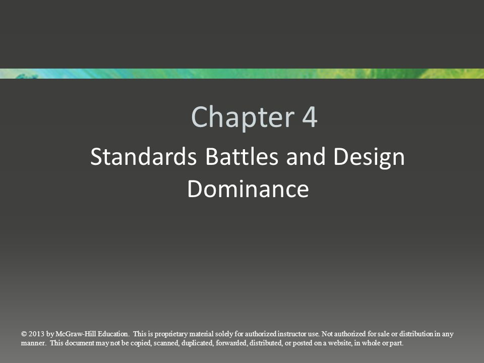 Standards Battles and Design Dominance