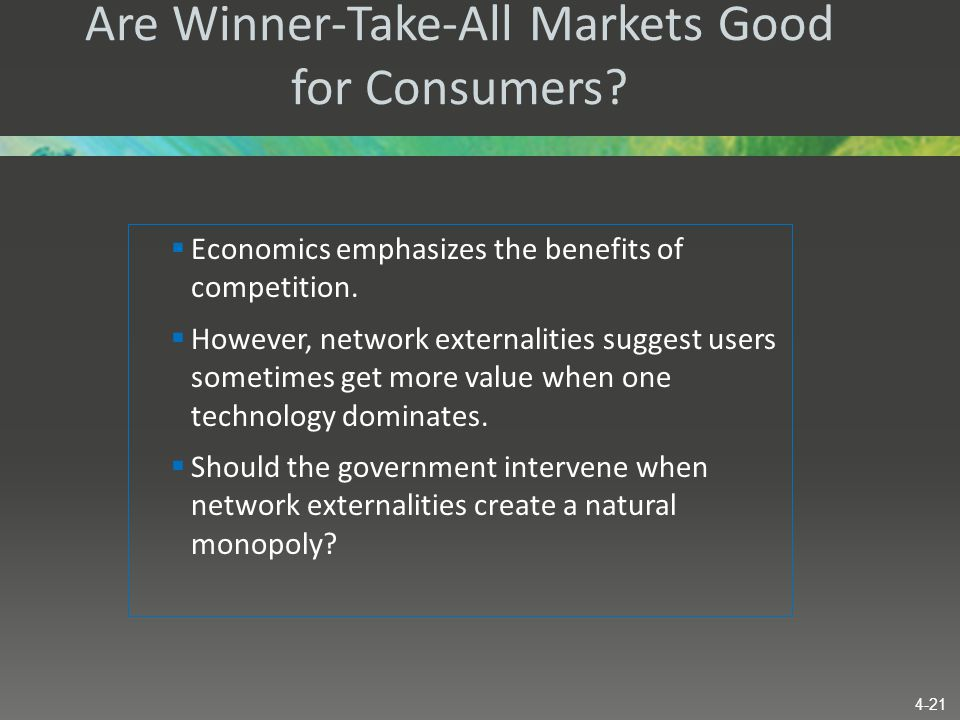 Are Winner-Take-All Markets Good for Consumers