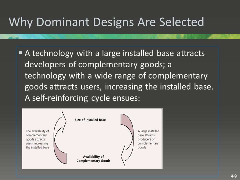 Why Dominant Designs Are Selected