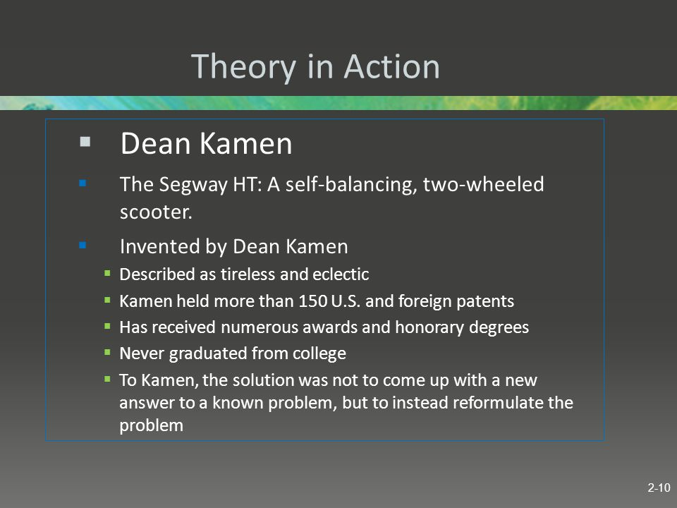 Theory in Action Dean Kamen