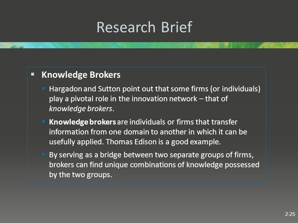 Research Brief Knowledge Brokers