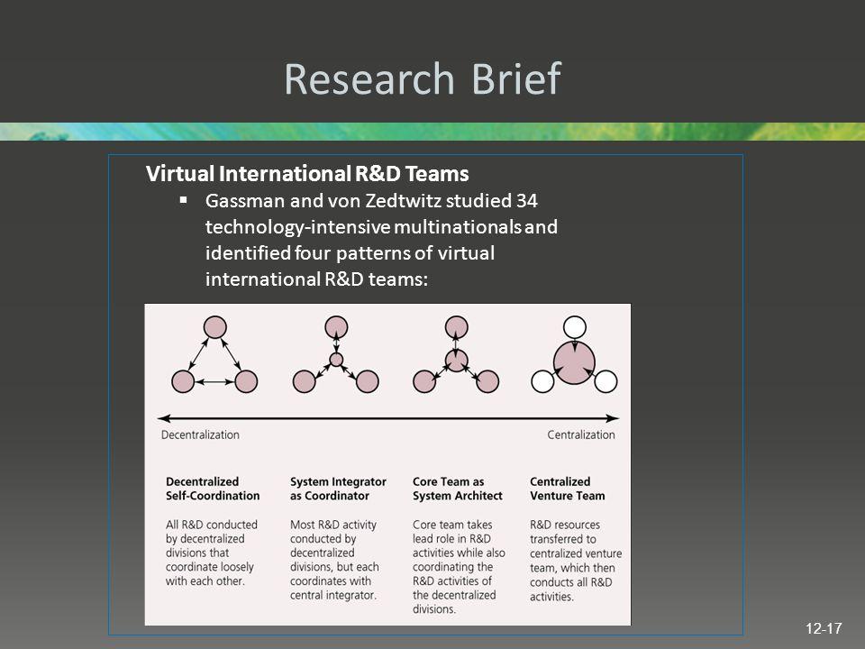 Research Brief Virtual International R&D Teams
